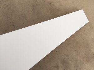 Gloss White Plinth Kickboard Kick Board MDF PVC wrapped 1m x 150mm  1000mmx150mm