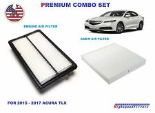PREMIUM COMBO SET AIR FILTER + CABIN AIR FILTER For 2015 - 2017 ACURA TLX 3.5L