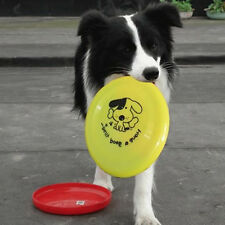 Cute Pet Dog Training Flying Saucer Puppy Plastic Toy Frisbee Dish Plate Hot