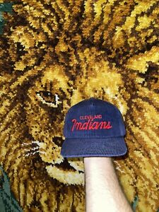 Cleveland Indians Sports Specialties Script The Cord Corduroy Hat
