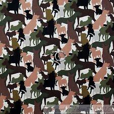 BonEful FABRIC Cotton Black Dog 911 Hero K9 Cop Military Camouflage USA US SCRAP