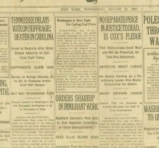 More details for  tennessee delays vote suffrage status of women century fight august 18 1920 b24