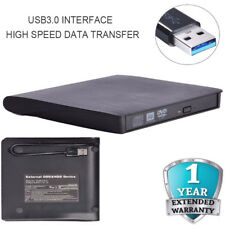 Slim External USB 3.0 DVD RW CD Writer Drive Burner Reader Player Black