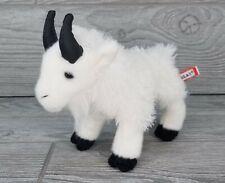 "MAGGIE by Douglas 7"" stuffed animal MOUNTAIN GOAT WHITE plush cuddle toy"