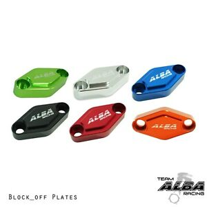 TRX 450R 450ER 400EX 400X 300EX    Billet Block Off Plate   Alba Racing
