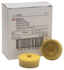 3m 07525 Scotch Brite Roloc 80 Grade Bristle Discs Box Of 10