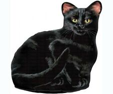 Fiddler's Elbow cat black pellet fill doorstop 100% cotton silkscreen FE70