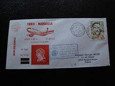 TUNISIE - enveloppe 28/6/1975 (tunis/marseille) (cy22) tunisie (A)