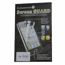3X LCD Screen Protector Film Guard Cover for Apple iPhone 4 4S