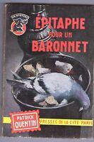 Patrick Quentin - EPITAPHE POUR UN BARONNET - 1 ED.1962