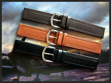 16mm Black Tan 1940's Vintage Italian Oil calf Leather watchband strap IW SUISSE