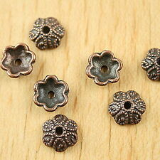 35pcs copper-tone flower beads cap h1807