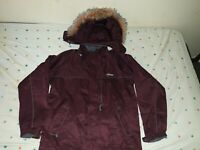 Rossignol Jacket women Medium Size Ski Jacket with detachable hoodie