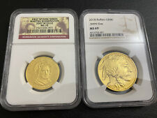 American Modern Gold Coins 2x Ngc Certified Buffalo And First Spouse Martha