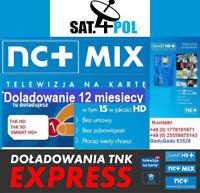 NC+N MIX doladowanie Aufladung 12 M Telewizja Na Karte NC+N MIX TnK TVN POLSAT