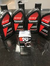 ATV, MotorCycle, Jet Ski Oil Change Kit Kaw. 10w40 & K&N-303 Oil Filter