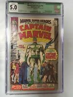 MARVEL SUPER-HEROES #12 (1967) 1ST CAPTAIN MARVEL CGC 5.0 KEY MARVEL SILVER AGE