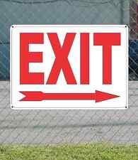 """EXIT with RIGHT ARROW - OSHA Safety SIGN 10"""" x 14"""""""
