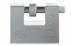 IFAM HUNO CEN 5 RATED HIGH PERFORMANCE PADLOCK WITH SHACKLE PROTECTION RING.