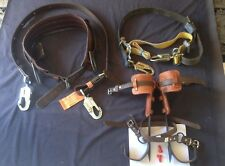 "Buckingham lineman Pole climbing Gear 14""/16""Spikes 23/24/25/28 belt szs & Acs."