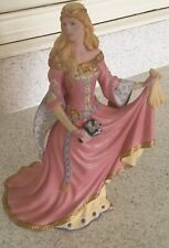 Hand Painted 1990 Lenox Legendary Princess Guinevere Porcelain Figurine 24k Gold