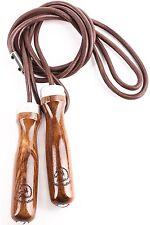Springseil aus Leder Golden Stallion Lederspringseil Holz Kugellager Gewichte