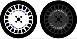 VW RACING MOTORSPORT COMPOMOTIVE TH BOLA ALLOY WHEELS STICKERS