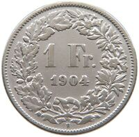 SWITZERLAND  1 FRANC 1904 #t123 147