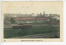 American Steel & Wire Co ALLENTOWN PA Rare Antique Industrial Train 1910s