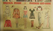Brenda Starr Sunday with Large Uncut Paper Dolls from 3/8/1942 Full Size Page