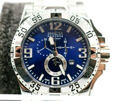 Invicta Men's Rare Excursion Swiss Reserve Chrono Blue Dial Poly Watch 15308