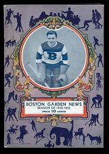 EX PLUS 12/6/1932 N.Y. Americans at Bos. Bruins NHL Program - 8 HOFers in lineup