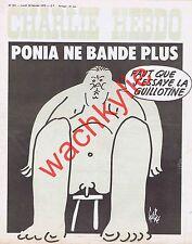 Charlie Hebdo n°221 du 10/02/1975 Poniatowski ne bande plus Guillotine Gébé