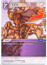 Final Fantasy TCG Opus 1 Odin 1-124R Near Mint Rare Lightning Sqaure Enix