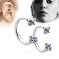 Steel Silver Piercing Nose Lip Ear Septum Cartilage Hoop Circle Ring Jewelry