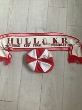 More details for hull kr rugby league hat and scarf from the 1986 challenge cup final