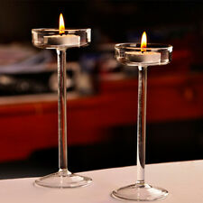 Elegant Tea Light Glass Candle Holders Wedding Table Centrepiece Candlestick