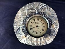 Waterford Crystal Giftware Time Piece Small Round Quartz Clock