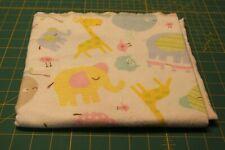 "Handmade  Flannel Receiving / Swaddle blanket~~JUNGLE ANIMALS~~40"" x 40"""