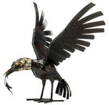 Metal Eagle Garden Ornament Sculpture Handmade Recycled Metal African Bird