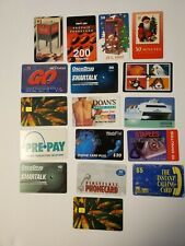 Lot of 17 Different Phone Cards US and Foreign