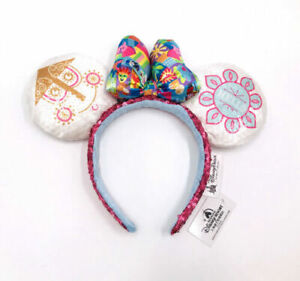 Disney Parks Mickey Minnie Colorful Bow A Small World Ears Headband