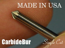 "New listing Solid Carbide Burr Sk-42 Single Cut 1/8"" Cone 90 Degree Tool Bur Bit"