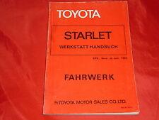 TOYOTA Starlet Werkstatt Handbuch Fahrgestell von 1980