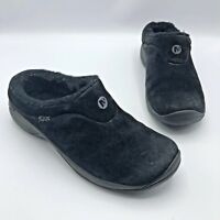 Merrell Encore Ice Women Black Suede Fur lined Comfort Shoe Size 8.5 Pre Owned