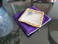 Yves Saint Laurent original gold-plated bag pocket mirror No.4
