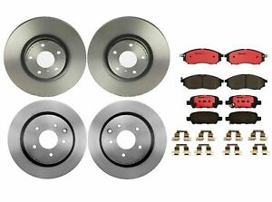 Brembo Front & Rear Brake Kit Disc Rotors Ceramic Pads For Infiniti G35 M35 M45
