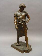 """#9: Bronzestatue / Bronzefigur """"Pax et Labor"""" (Frieden und Arbeit), E. Picault"""