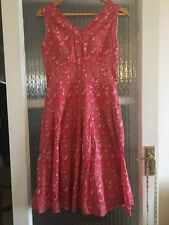 LAURA ASHLEY SUMMER COTTON DRESS SIZE UK 8 IN EXCELLENT CONDITION
