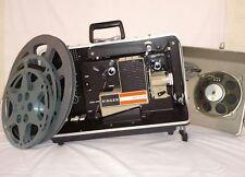 Vintage SINGER SIXTEEN Reel to Reel Projector w/3 reels and bonus movie! 1000G